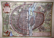 G. Braun & F. Hogenberg: MAP OF PARIS, 1574
