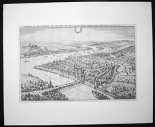 Matthaeus, Merian:  View of the city of Cobolentz under siege by the Swedish, Year 1650
