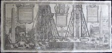 Bonifacio, Natale and Giovanni Guerra: The erection of the obelisk south from St. Peter's – Plate 2, Year 1586.