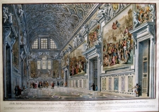 Panini, Francesco: View of the Sala Regia in the Vatican Palace, made for Pope Paolo III. Year 1766