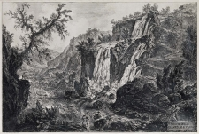 Piranesi, Giovanni: THE SMALL WATERFALL AND RAPIDS AT TIVOLI, Year 1769