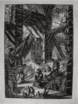 Piranesi, Giovanni: The Staircase with Trophies, 1749