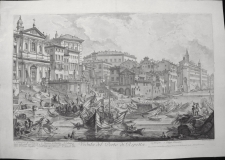 Piranesi, Giovanni: THE SMALLER HARBOUR CALLED THE PORTO DI RIPETTA. Year 1753