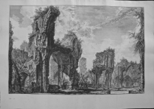Piranesi, Giovanni: THE BATHS OF CARACALLA. INTERIOR OF THE CENTRAL HALL, Year 1765