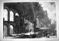 Piranesi, Giovanni: THE BASILICA OF CONSTANTINE: WITH A STREET SEEN THROUGH ARCHES ON THE LEFT, Year 1774