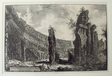 Piranesi, Giovanni: THE COLOSSEUM INTERIOR, Year 1766.