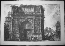 Piranesi, Giovanni: THE ARCH OF BENEVENTUM, Year 1778