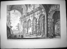 Piranesi, Giovanni: SUBSTRUCTURE OF THE TEMPLE OF CLAUDIUS (FORMERLY CALLED THE CURIA HOSTILIA), Year 1757