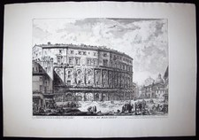 Piranesi, Giovanni: THE THEATRE OF MARCELLUS, Year 1757