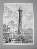 anesi, Giovanni: THE COLUMN OF MARCUS AURELIUS, Year 1758