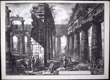 Piranesi, Giovanni: INTERIOR OF THE TEMPLE OF NEPTUNE, Year 1778