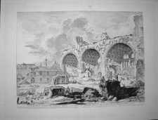 Piranesi, Giovanni: THE BASILICA OF CONSTANTINE, Year 1757