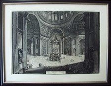Piranesi, Giovanni: ST. PETER'S, INTERIOR BENEATH THE DOME, Year 1773
