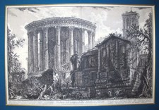 Piranesi, Giovanni: TEMPLE OF THE SIBYL IN TIVOLI, Year 1761