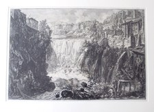 Piranesi, Giovanni: THE WATERFALL AT THE CITY OF TIVOLI, Year 1766