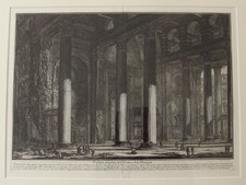 Piranesi, Giovanni: THE PANTHEON, INTERIOR OF THE PORTICO, Year 1769