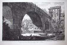 Piranesi, Giovanni: THE PONTE FERRATO, Year 1756