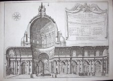 Specchi, Alessandro: SECTION OF ST. PETER, Year 1687